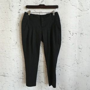 EDDIE BAUER BLACK CROPPED PANTS 2P